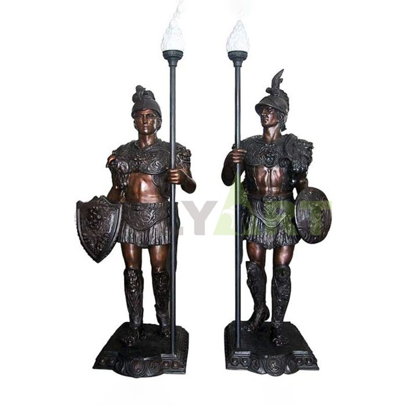 Indoor or outdoor life-size roman soldier action figure