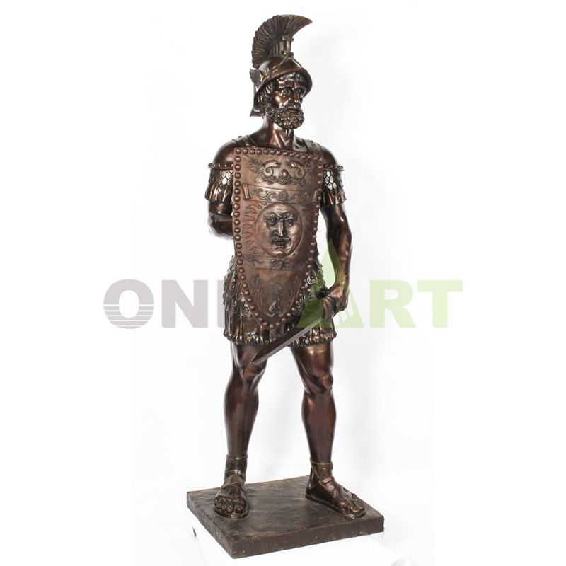Sculpture of a Roman soldier with a long beard