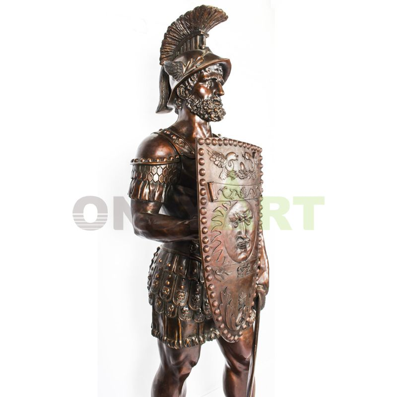 Bronze bust of a sturdy middle-aged infantryman of Rome