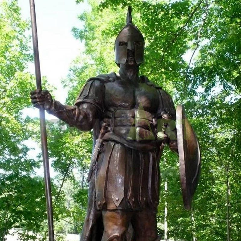 The image of a mighty Roman warrior in the shade of a tree