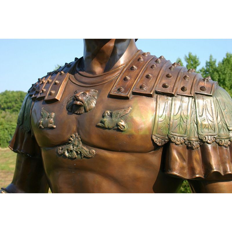 Bust of a Roman warrior with abdominal muscles