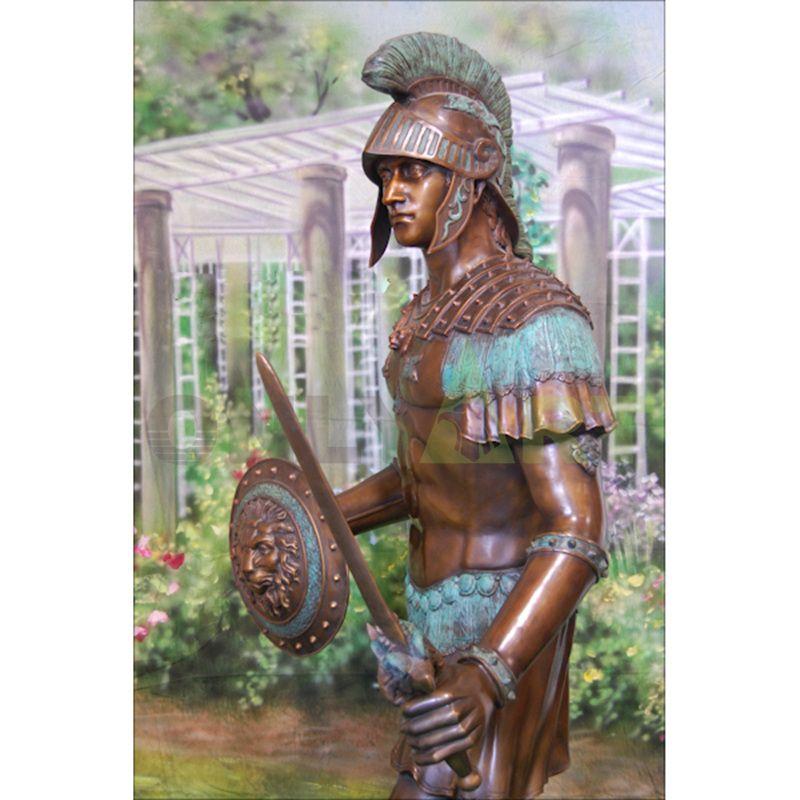 Sculpture of an ancient Roman soldier