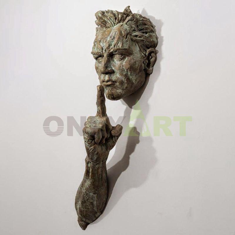 Bronze hanging on the wall matteo pugliese sculpture
