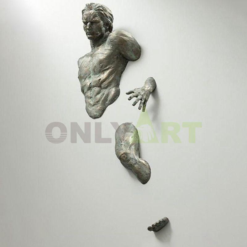Matteo Pugliese Sculpture for Sale Reproduction Man On Wall Art Sculpture