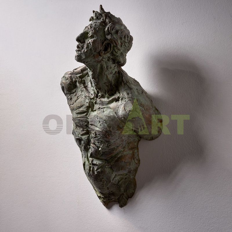 The bronze armless bust was designed by Matteo