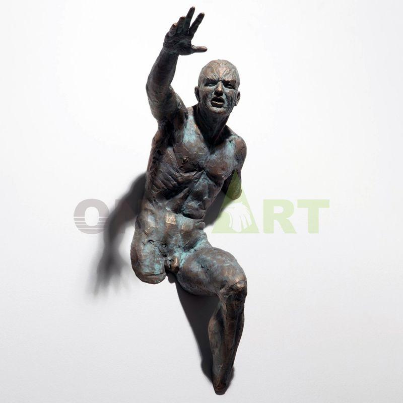 Abstract art bronze matteo pugliese sculpture for home wall