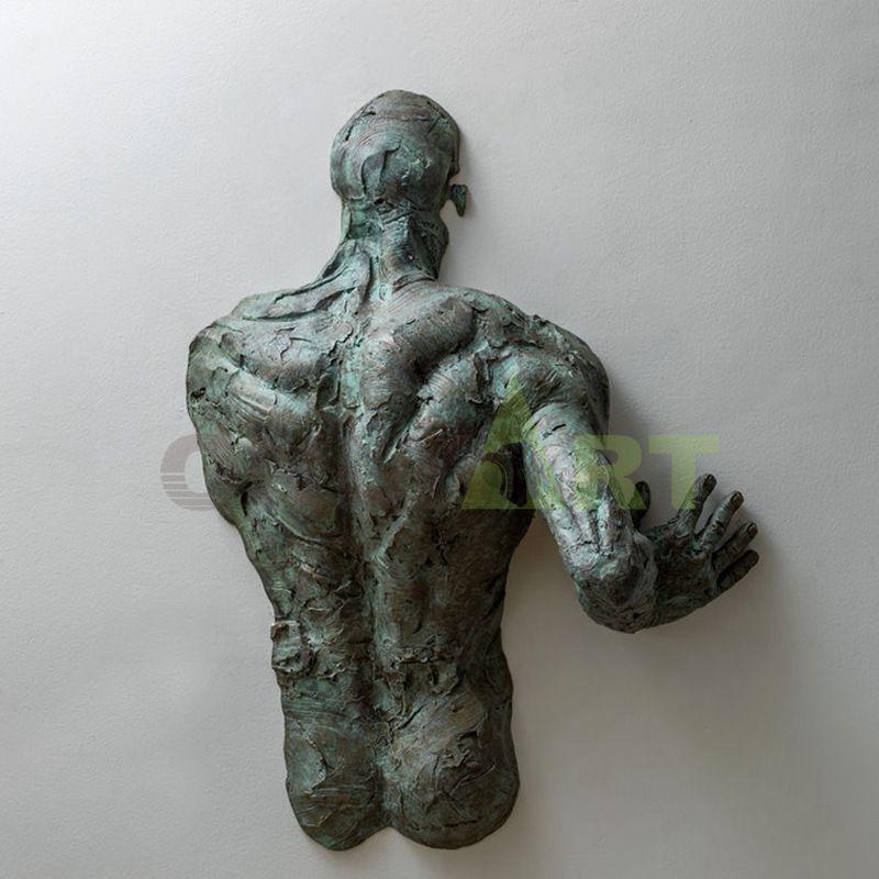 Abstract wall art antique bronze matteo pugliese sculpture for sale
