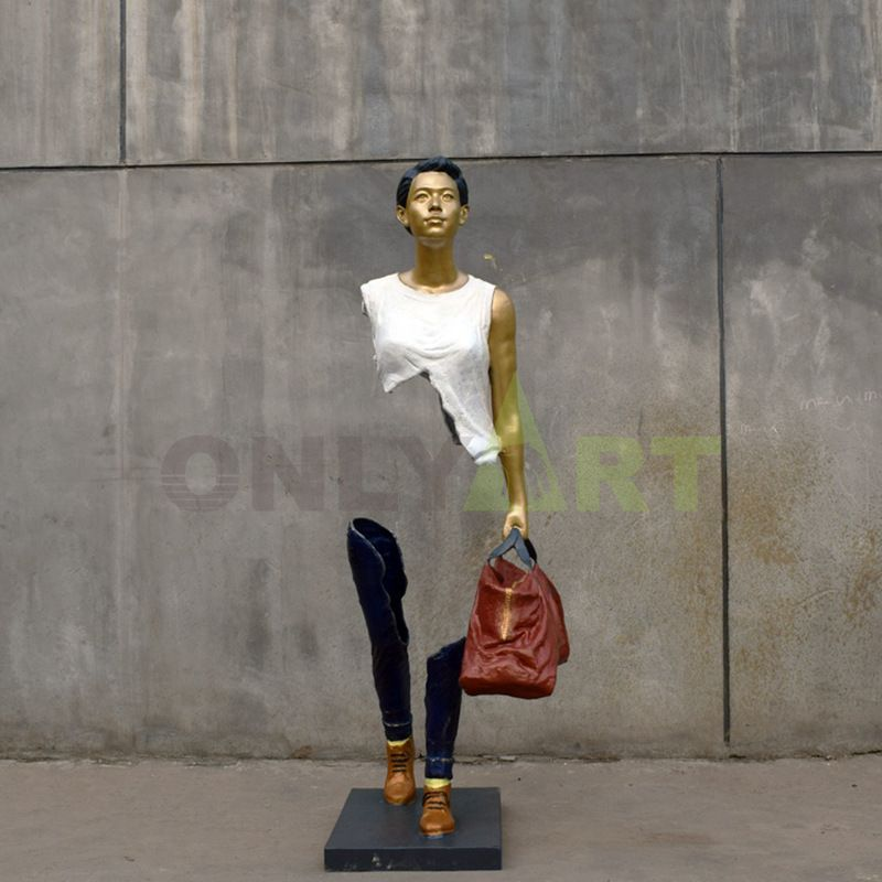 The hollowness of career women  bruno catalano sculpture
