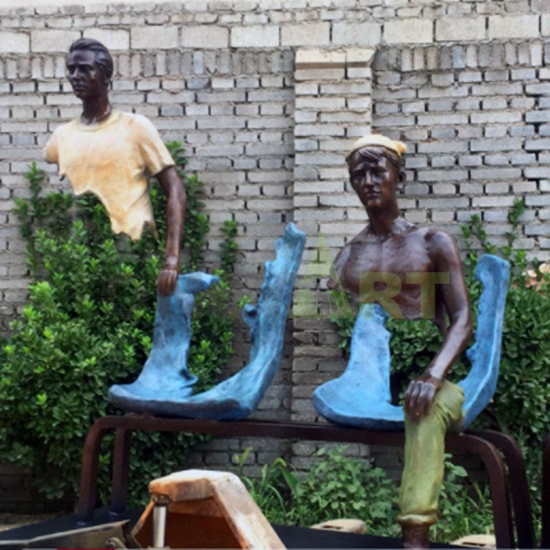 Let's take a break in our seats bruno catalano sculpture