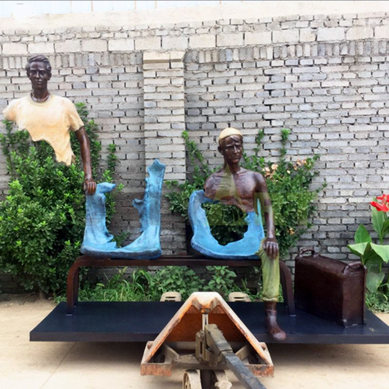 Not all of them are there, Bruno Catalano's mysterious sculptures