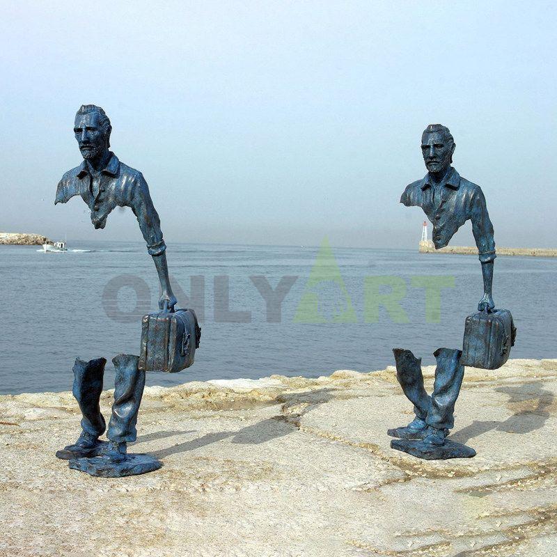 Keep cruising the world unusual traveler sculpture by Bruno Catalano