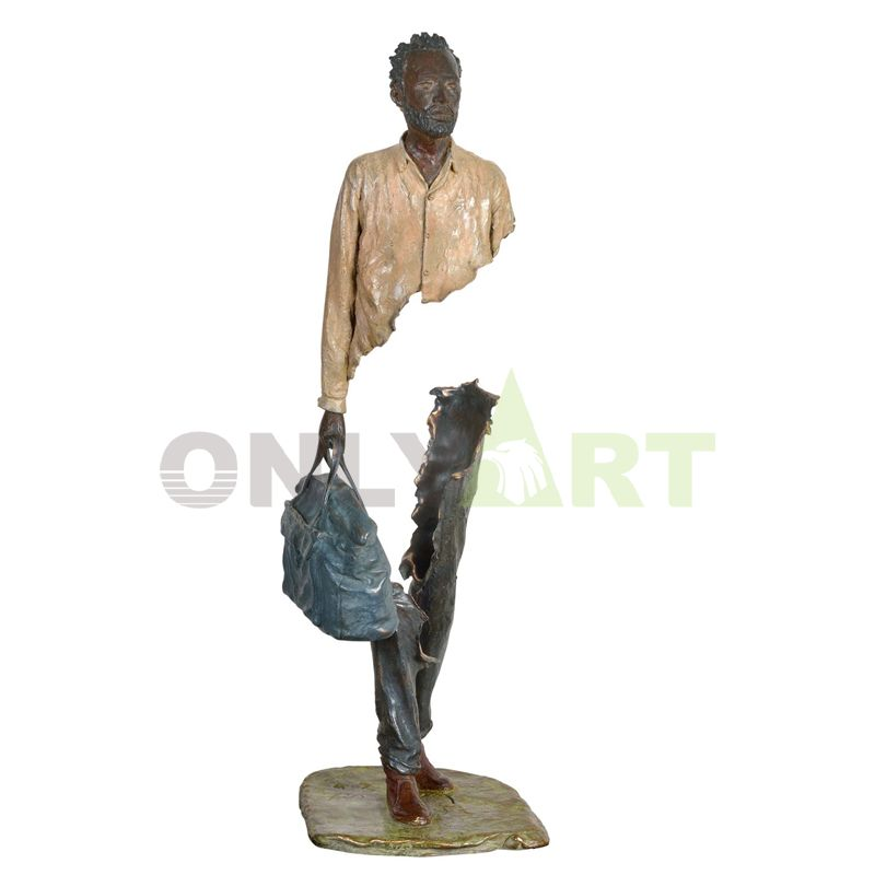 Cheap life-size abstract bronze sculpture of Bruno Catrano