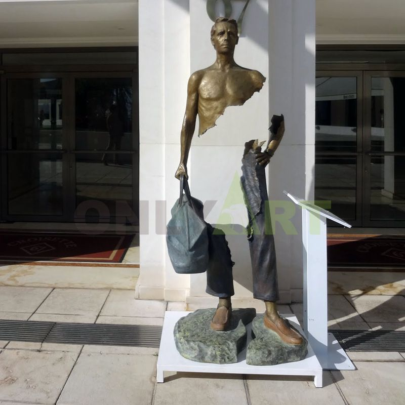 Part of the missing Bruno Catrano sculpture