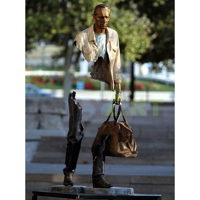 Bruno Catalano sculpture for sale sculpture, abstract Bronze traveler statue, for bronze sculpture