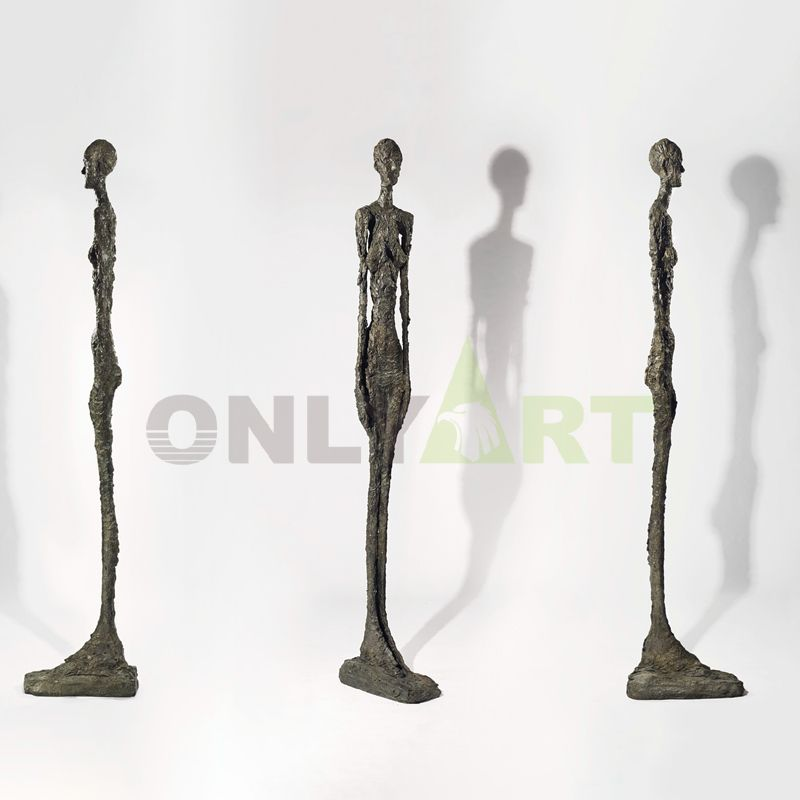 Three walkers in different positions - Giacometti