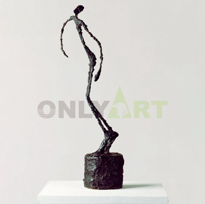A woman standing tall and straight-alberto giacometti