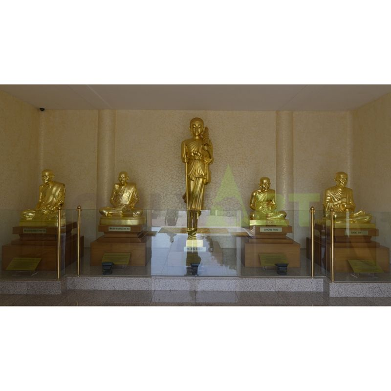 Inside are five life-size Buddha statues