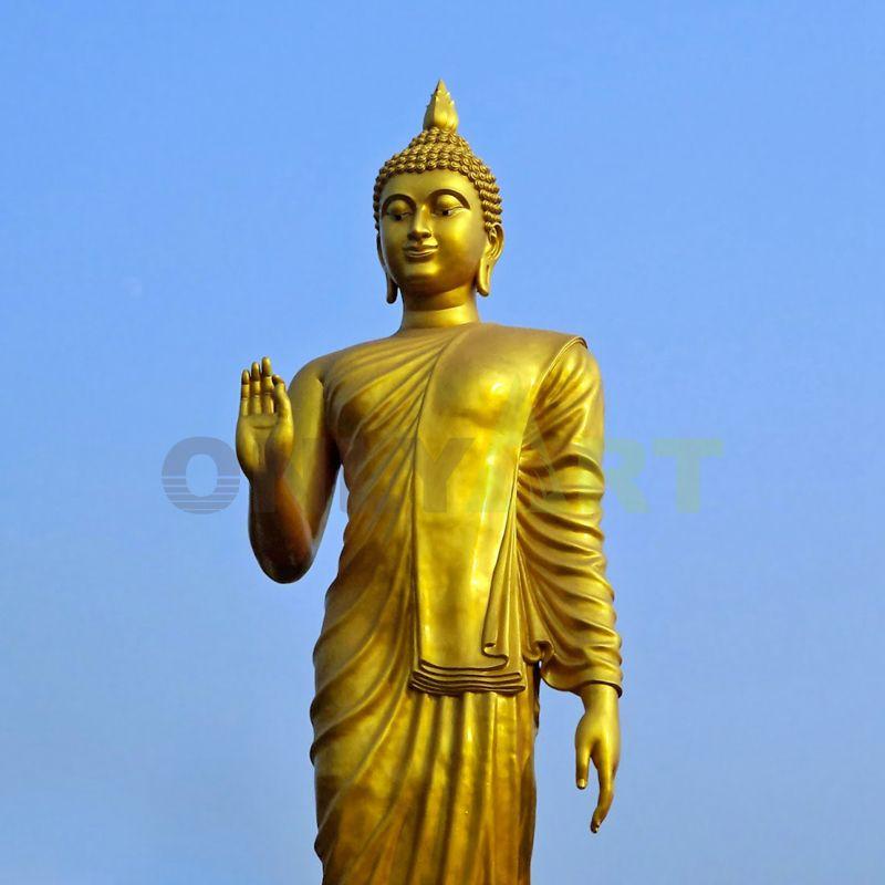 Religious Bronze Buddha statue of the Hindu god seated