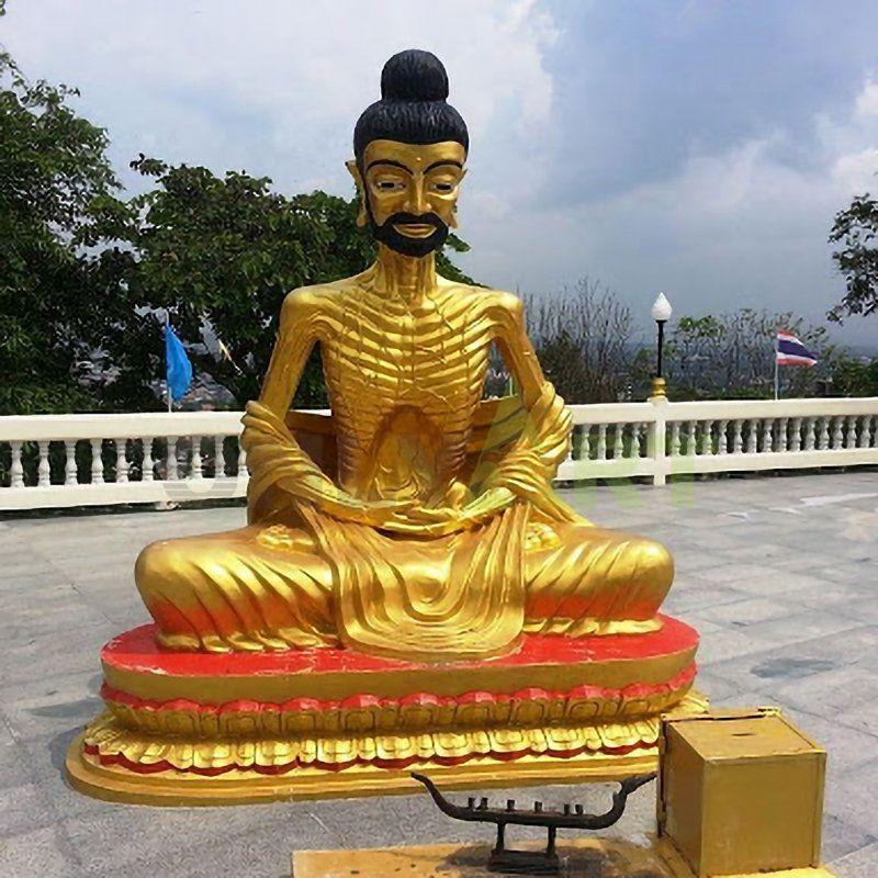 The scrawny Indian Buddha statue