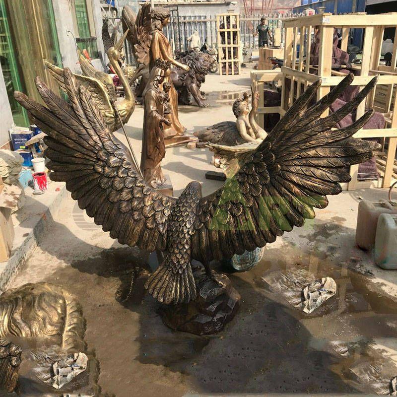 Large outdoor garden statue bronze eagle sculpture for sale