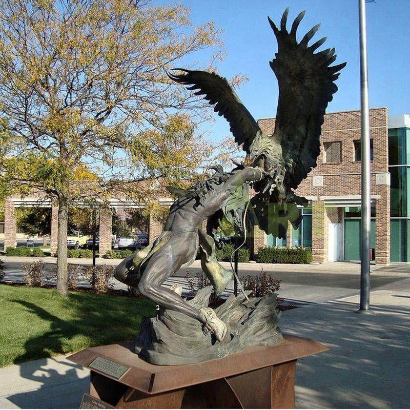 Brass lifesize eagle statue, brass gift bird figurine for decoration
