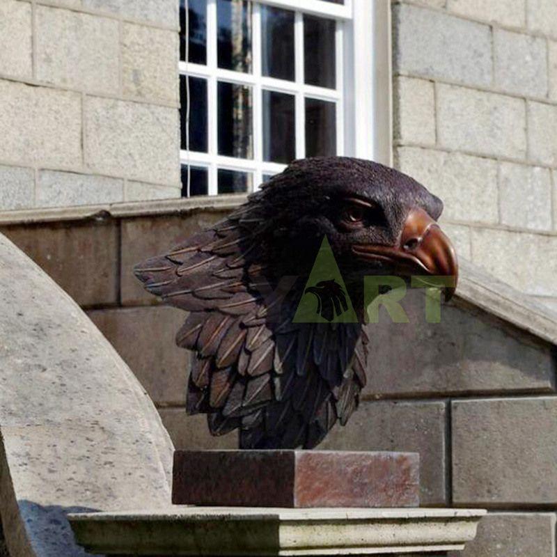 Antique Bronze Eagle Bust