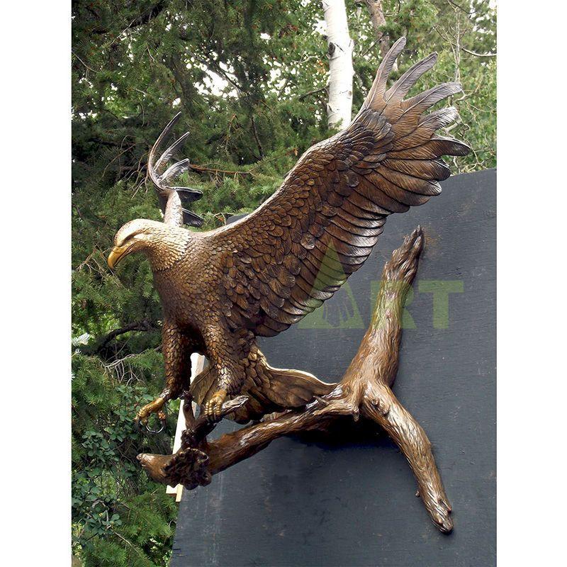 Custom Metal Craft Garden Sculpture Bronze Eagle Statue