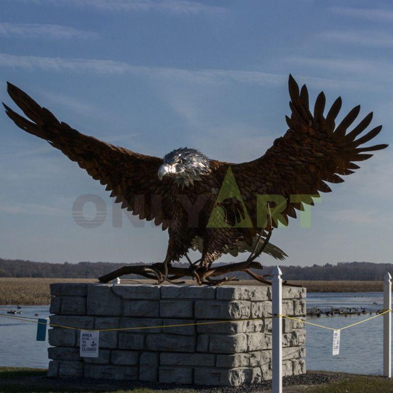 Large outdoor bronze eagle statues sculpture for sale