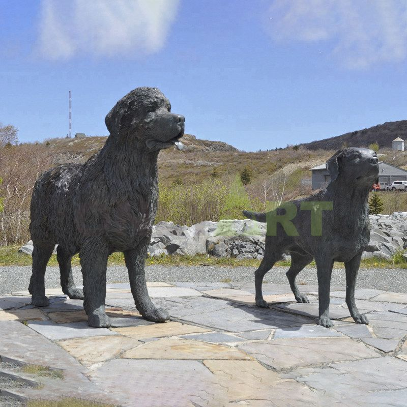 Custom life size metal animal statue bronze dog sculpture