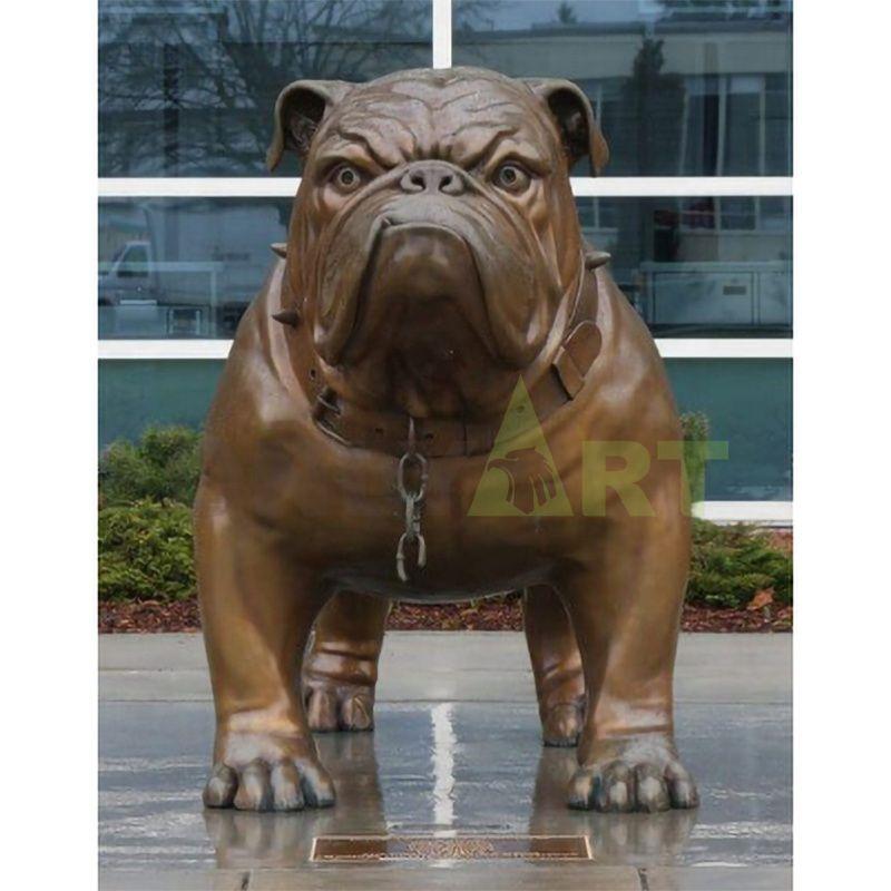 Custom Made Small Bronze French Bulldog Statue for Sale