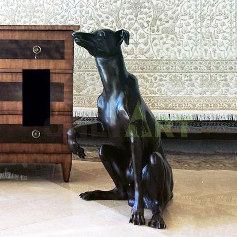 Large Boxer Dog Statue Bronze sculpture