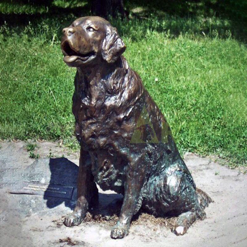 Dog Bronze Sculpture For Garden