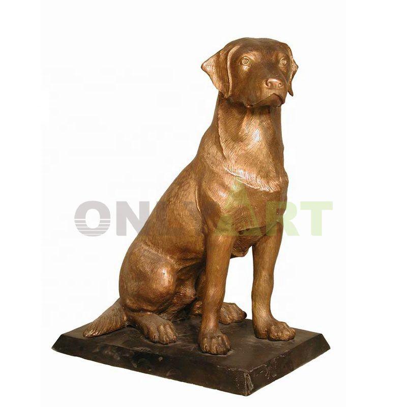 Decor Metal Crafts Life Size Dog Sculpture