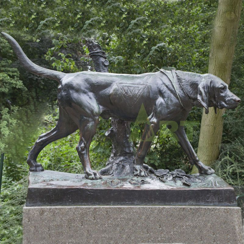 Decorated with life-size bronze dogs, dogs on tombstones