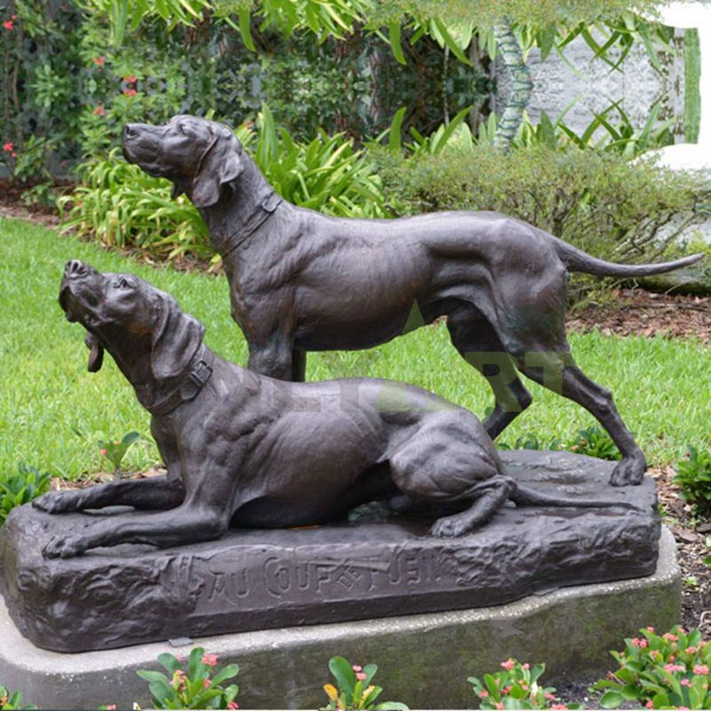 Customized bronze animal statue bronze welcome dog statues