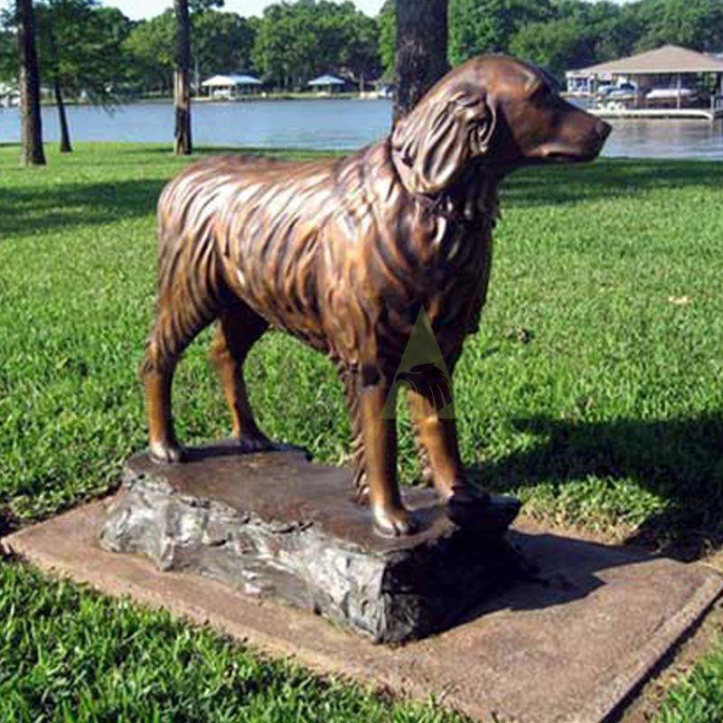 Bronze decorative garden sculpture Bronze Dog for Sale Today's dog isn't too happy