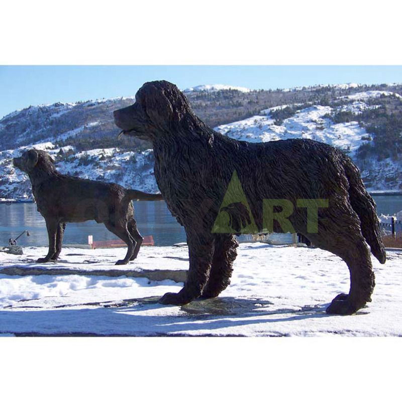 Large outdoor abstract dog sculpture