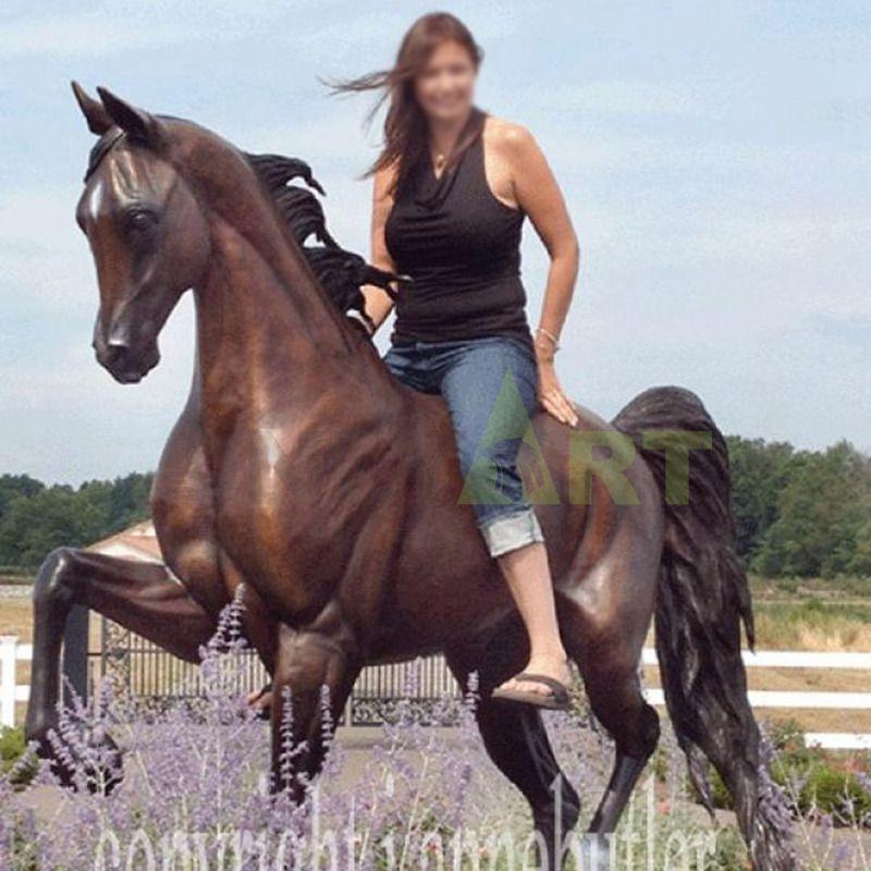 Outdoor garden decoration stone animal sculpture horse statue life size