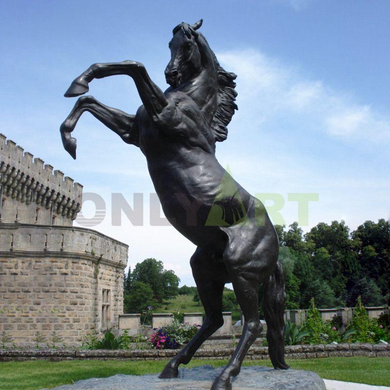 Large Vivid Bronze Running Horse Statue, Bronze Horse Sculpture