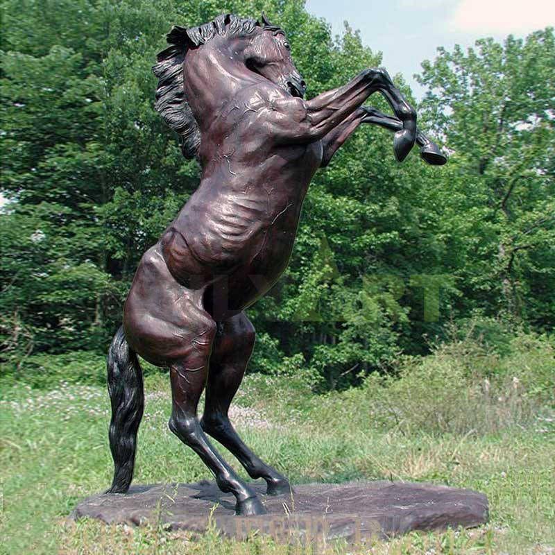 hot modern metal art decor sculpture copper animal brass horse sculpture