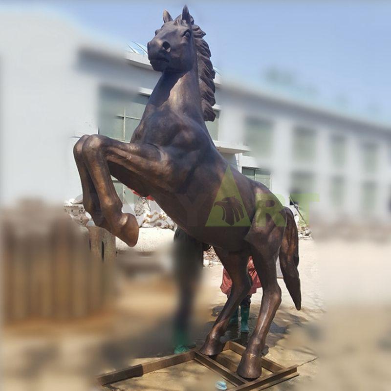 Custom brass bronze horse statue arts crafts horse sculpture for home decoration