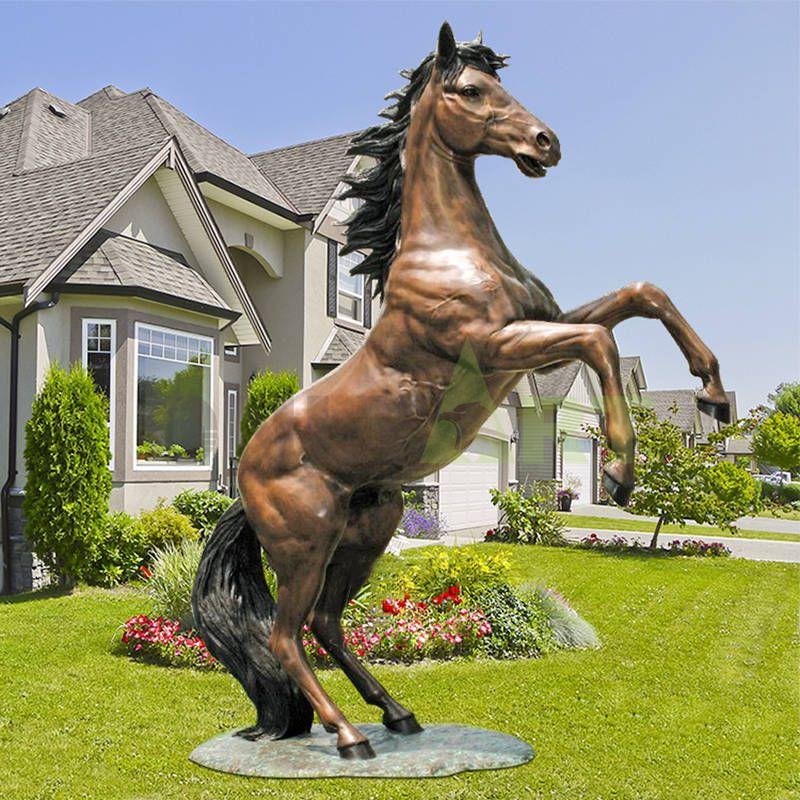 Copper golden metal horse abstract brass horse sculpture