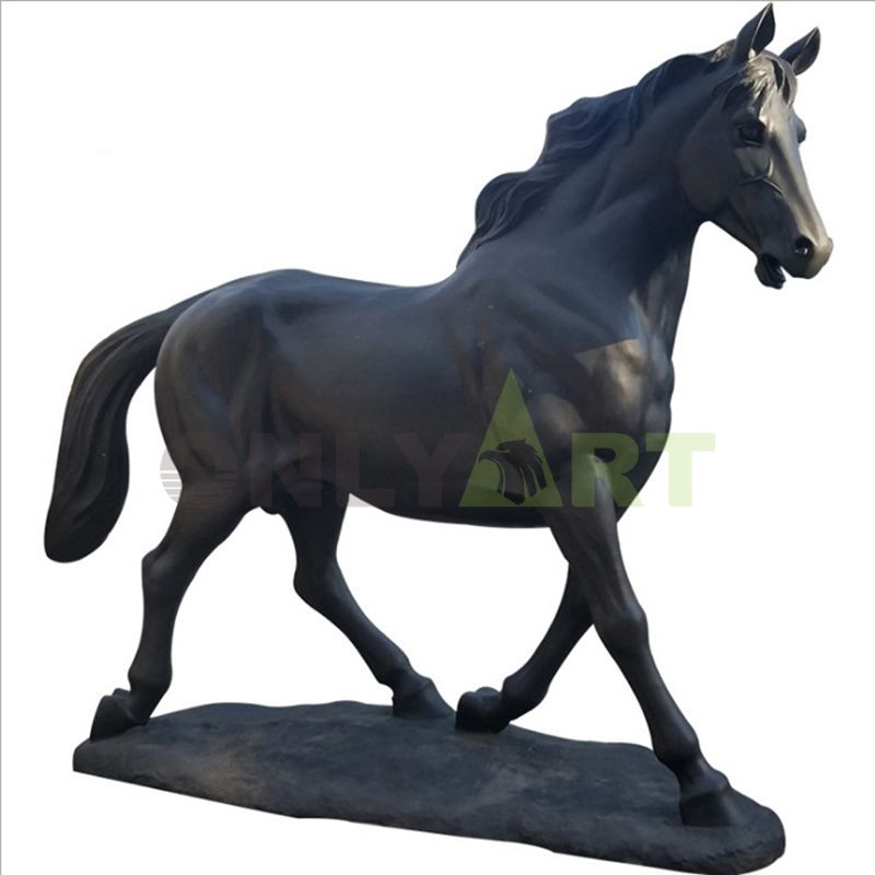 Cast iron bronze horse sculpture for home decor