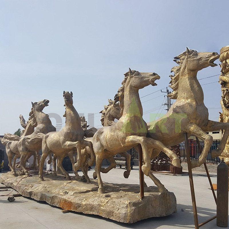 Bronze sculptures of ten thousand horses galloping on sale