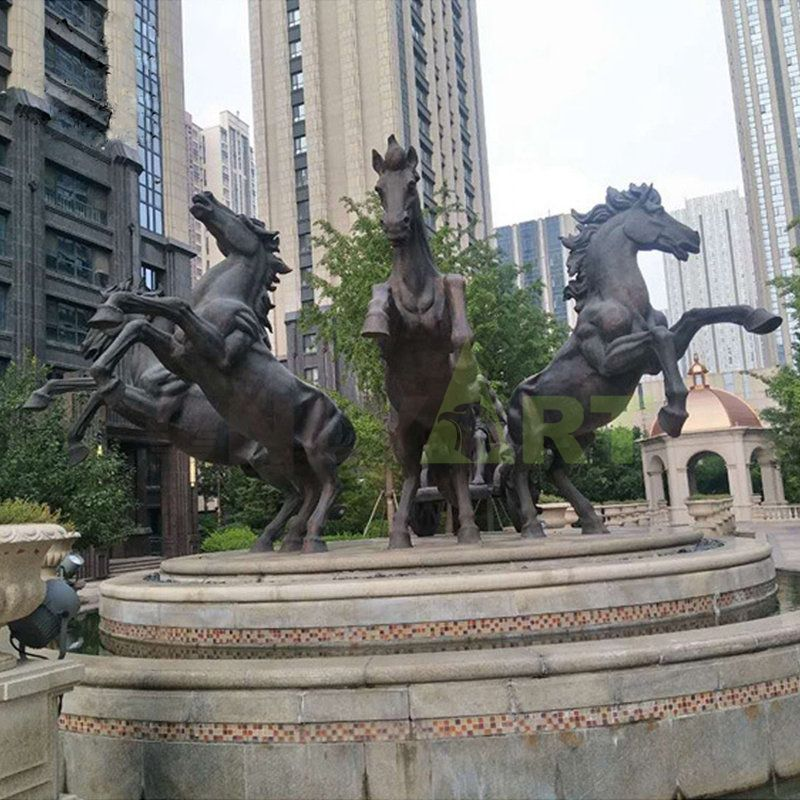Outdoor Large Modern Arts Stainless steel horse sculpture for garden decoration