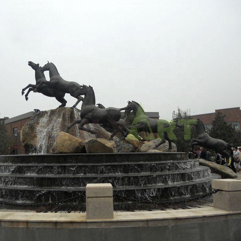Garden Art Large Gold Horse Sculpture Statue For Sale