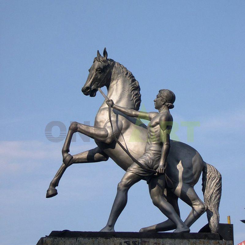 Bronze napoleon and horse statue man riding horse sculpture