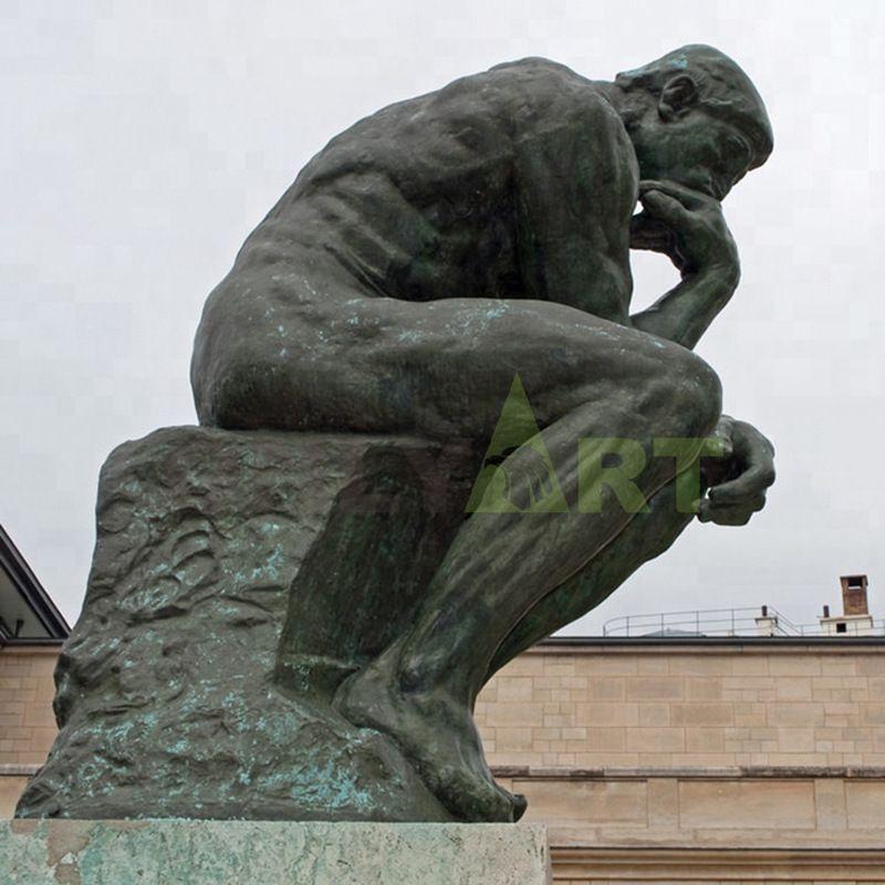Antique Bronze Life Size Auguste Rodin Sculpture World Famous Bronze Sculpture the Thinker Statue Replica for Sale