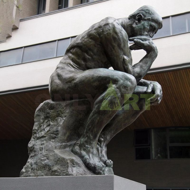 famous Rodin bronze sculpture reproductions life size sitting The thinker statue