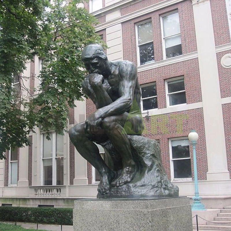 Hot seller rodin naked man standing bronze sculpture